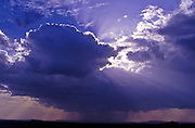 Thunderstorm and rain; Serengeti National Park, Tanzania; Clouds and sky