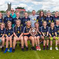 Barefield winners of Division 1 in the Clare Primary Schools Ladies Football Finals at Cusack Park, Ennis, Co. Clare