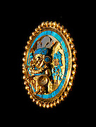 PERU, PREHISPANIC, GOLD Mochica; Lord of Sipan ear plug