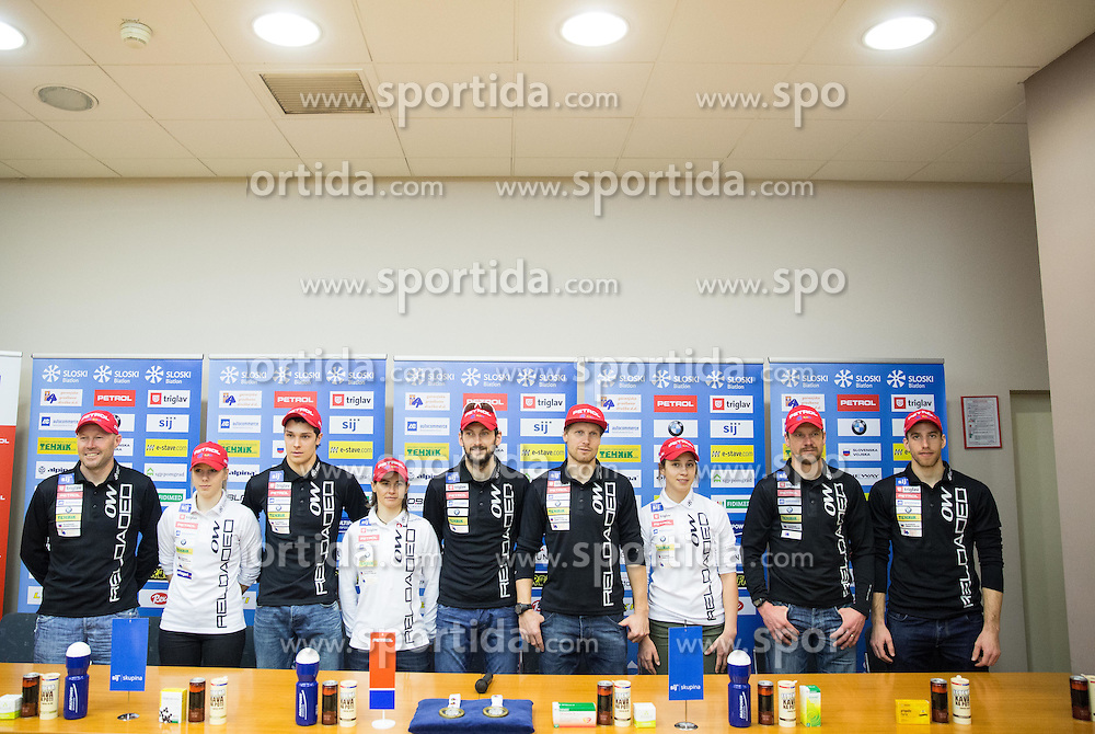 Press conference of Slovenian Biathlon Team for IBU World Championships in Kontiolahti (FIN), on February 26, 2015 in Ljubljana, Slovenia. Photo by Vid Ponikvar / Sportida