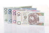 Polish currency - studio shot