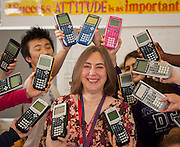 Kay Kubena poses for a photograph in her AP Math class at Bellaire High School, April 24, 2013.