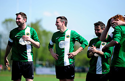 Chris Dawson of SWYD United shares a joke - Mandatory by-line: Dougie Allward/JMP - 08/05/2016 - FOOTBALL - Keynsham FC - Bristol, England - BAWA Sports v SWYD United - Presidents cup final