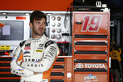 October 5, 2018 - Dover, Delaware, United States of America - Daniel Suarez (19) hangs out in the garage during practice for the Gander Outdoors 400 at Dover International Speedway in Dover, Delaware. (Credit Image: © Justin R. Noe Asp Inc/ASP via ZUMA Wire)