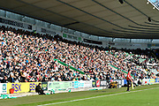 A good sized crowd in Home Park Stadium during the EFL Sky Bet League 1 match between Plymouth Argyle and Burton Albion at Home Park, Plymouth, England on 20 October 2018.
