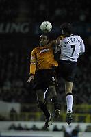 Photo: Jo Caird<br /> Spurs v Wolves<br /> Barclaycard Premiership 2003<br /> 06/12/2003.<br /> <br /> Paul Ince and darren anderton