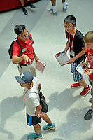 New students and counselors gather in Talley Student Union for orientation.
