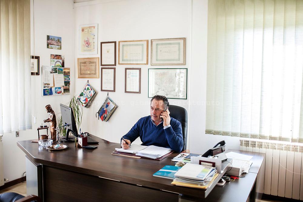 """17 February 2017, Manciano, Italy - Carlo Santarelli, President of the """"Caseificio Sociale Manciano"""", social cheese factory."""