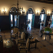Mansion Xanadu built in the early 1900's by American Irenee du Pont, heir the namesake chemical company. The mansion was nationalized by the Castro government and now is a hotel and golf course.<br /> Photography by Jose More
