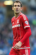 Middlesbrough FC striker Christian Stuani during the Sky Bet Championship match between Brighton and Hove Albion and Middlesbrough at the American Express Community Stadium, Brighton and Hove, England on 19 December 2015. Photo by Phil Duncan.