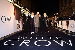 David Hare, Oleg Ivenko, Ralph Fiennes, Gabrielle Tana, and Carolyn Marks Blackwood attending The White Crow UK Premiere held at the Curzon Mayfair, London.