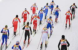 After start of Ladies` Pursuit 7,5 km Classic + 7,5 km Free at FIS Nordic World Ski Championships Liberec 2008, on February 21, 2009, in Vestec, Liberec, Czech Republic. (Photo by Vid Ponikvar / Sportida)