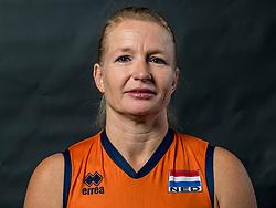 22-09-2017 NED: Portret zitvolleybalsters Oranje 2017-2018, Leersum<br /> Nederland bereidt zich voor op het komende EK zitvolleybal / Paula List #8