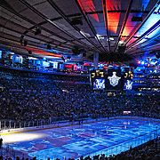 May 14, 2012:  A general view of the pre game light show prior to  game 1 of the Eastern Conference Finals between the New York Rangers and the New Jersey Devils at  Madison Square Garden in Manhattan, New York .  The New York Rangers defeat the New Jersey Devils 3-0. (Credit Image: © Kostas Lymperopoulos/Cal Sport Media)