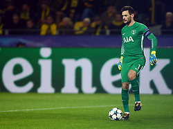 November 21, 2017 - Dortmund, Germany - Tottenham Hotspur's Hugo Lloris. during UEFA Champion  League Group H Borussia Dortmund between Tottenham Hotspur played at Westfalenstadion, Dortmund, Germany 21 Nov 2017  (Credit Image: © Kieran Galvin/NurPhoto via ZUMA Press)