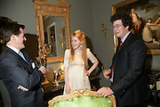 Richard Cave, Cordelia Shakleton and Arthur Sweerts, New Collectors Evening. Grosvenor House Antiques Fair. Park Lane. 19 June 2007.  -DO NOT ARCHIVE-© Copyright Photograph by Dafydd Jones. 248 Clapham Rd. London SW9 0PZ. Tel 0207 820 0771. www.dafjones.com.