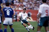 FIFA World Cup - USA 1994<br /> 26.6.1994, Soldier Field Stadium, Chicago, Illinois.<br /> Group D, Bulgaria v Greece.<br /> Hristo Stoichkov - Bulgaria