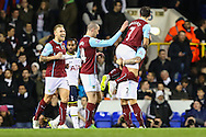 Ross Wallace of Burnley (07) celebrates scoring his team's second goal against Tottenham Hotspur to make it 0-2 during the FA Cup match at White Hart Lane, London<br /> Picture by David Horn/Focus Images Ltd +44 7545 970036<br /> 14/01/2015
