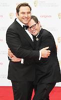 David Walliams; Alan Carr, Arqiva British Academy Television Awards, Royal Festival Hall London UK, 12 may 2013, (Photo by Richard Goldschmidt)