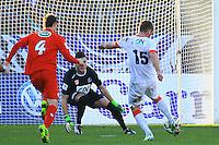 Goal Valere GERMAIN - 04.01.2014 - Nimes / Monaco - Coupe de France<br />Photo : Nicolas Guyonnet / Icon Sport