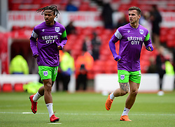 Joe Bryan of Bristol City and Bobby Reid of Bristol City warm up. - Mandatory by-line: Alex James/JMP - 28/04/2018 - FOOTBALL - The City Ground - Nottingham, England - Nottingham Forest v Bristol City - Sky Bet Championship