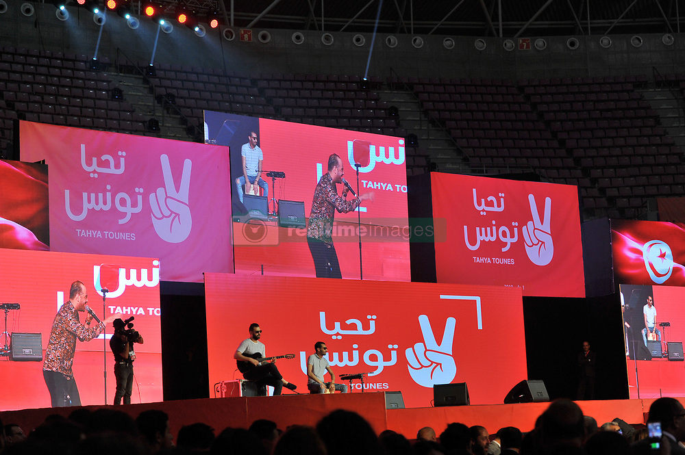 May 1, 2019 - Rades, Tunisia - Closing of the National Constitutional Congress of the Tahya Tounes Party at the Rades Sports Hall, chaired by Party Secretary General Selim Azzabi. (Credit Image: © Chokri Mahjoub/ZUMA Wire)