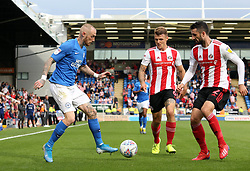 Marcus Maddison of Peterborough United in action with Conor McLaughlin and Max Power of Sunderland - Mandatory by-line: Joe Dent/JMP - 31/08/2019 - FOOTBALL - Weston Homes Stadium - Peterborough, England - Peterborough United v Sunderland - Sky Bet League One