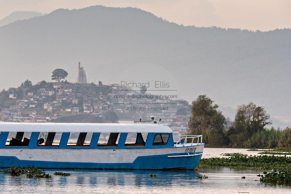 Ferry boats on Lake Patzcuaro near Janitzio Island, Michoacan, Mexico.