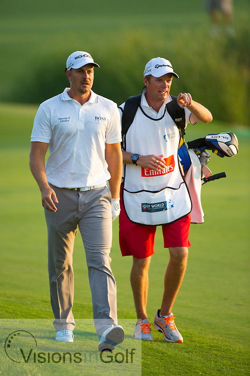 Henrik Stenson<br /> during the third round of the Race To Dubai DP World Tour Golf Championship, Dubai, UAE November  2013<br /> Picture Credit:  Mark Newcombe / www.visionsingolf.com