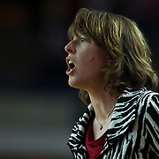 02/05/12 Newark DE: VCU Head Coach Beth Cunningham yells instructions from the sideline during a Colonial Athletic Association game against Delaware, Feb. 5, 2012 at the Bob carpenter center in Newark Delaware...Special to The News Journal/SAQUAN STIMPSON