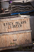 Lobster crate at the harbor at Stock Island, Key West, Florida.