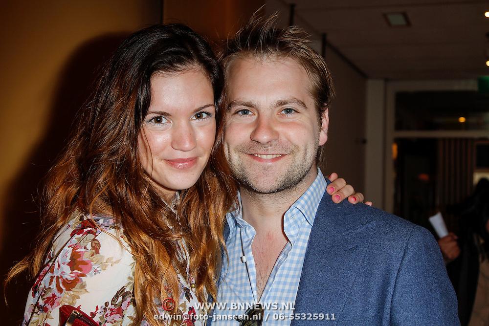 NLD/Amsterdam/20120401 - Premiere de Lorax, Marly van der Velden en partner Mike Meijer