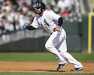 CHICAGO - APRIL 09:  Carlos Quentin #20 of the Chicago White Sox runs the bases against the Tampa Bay Rays on April 09, 2011 at U.S. Cellular Field in Chicago, Illinois.  The White Sox defeated the Rays 4-2.  (Photo by Ron Vesely) Subject: Carlos Quentin