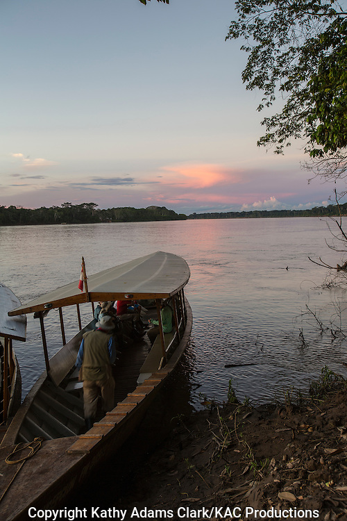 Boats from Inkaterra Amazonia;  Madre de Dios River; Peru; Reserva Ecologica Inkaterra; Tambopata National Reserve