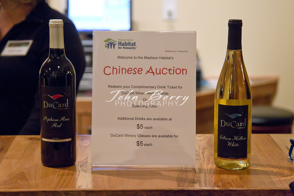 Madison County Habitat for Humanity Chinese Auction at Ducard Vineyards, Etlan, VA.  December 1, 2011.