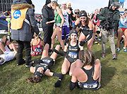 Nov 17, 2018; Madison, WI, USA; Dani Jones (55) of Colorado celebrates with teammates Sage Hurta (54), Tayler Tuttle (60) and Makena Morley (57) after winning the individual title to help the Buffaloes won the women's team championshipduring the NCAA Cross Country Championships at the Thomas Zimmer Championship Course.