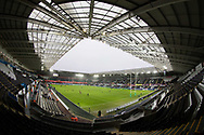 A general view of Liberty Stadium, home of Ospreys<br /> <br /> Photographer Simon King/Replay Images<br /> <br /> EPCR Champions Cup Round 4 - Ospreys v Northampton Saints - Sunday 17th December 2017 - Parc y Scarlets - Llanelli<br /> <br /> World Copyright &copy; 2017 Replay Images. All rights reserved. info@replayimages.co.uk - www.replayimages.co.uk