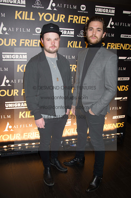 Left to right,  BEN THATCHER and MIKE KERR of Royal Blood at the Al Films and Warner Music Screening of Kill Your Friends held at the Curzon Soho Cinema, 99 Shaftesbury Avenue, London on 27th October 2015.