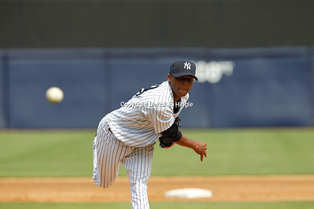March 4, 2012; Tampa Bay, FL, USA; New York Yankees starting pitcher D.J. Mitchell (78) during spring training game against the Philadelphia Phillies at George M. Steinbrenner Field. Mandatory Credit: Derick E. Hingle-US PRESSWIRE