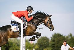 Vermeiren Dieter, (BEL), Invisible E vh Juxschot<br /> Pony European Championships Malmö 2015<br /> © Hippo Foto - Lotta Gyllensten