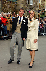 The HON.CAMILLA ASTOR and her fiance DOMINIC TRUSTED at the wedding of Laura Parker Bowles to Harry Lopes held at Lacock, Wiltshire on 6th May 2006.<br /><br />NON EXCLUSIVE - WORLD RIGHTS
