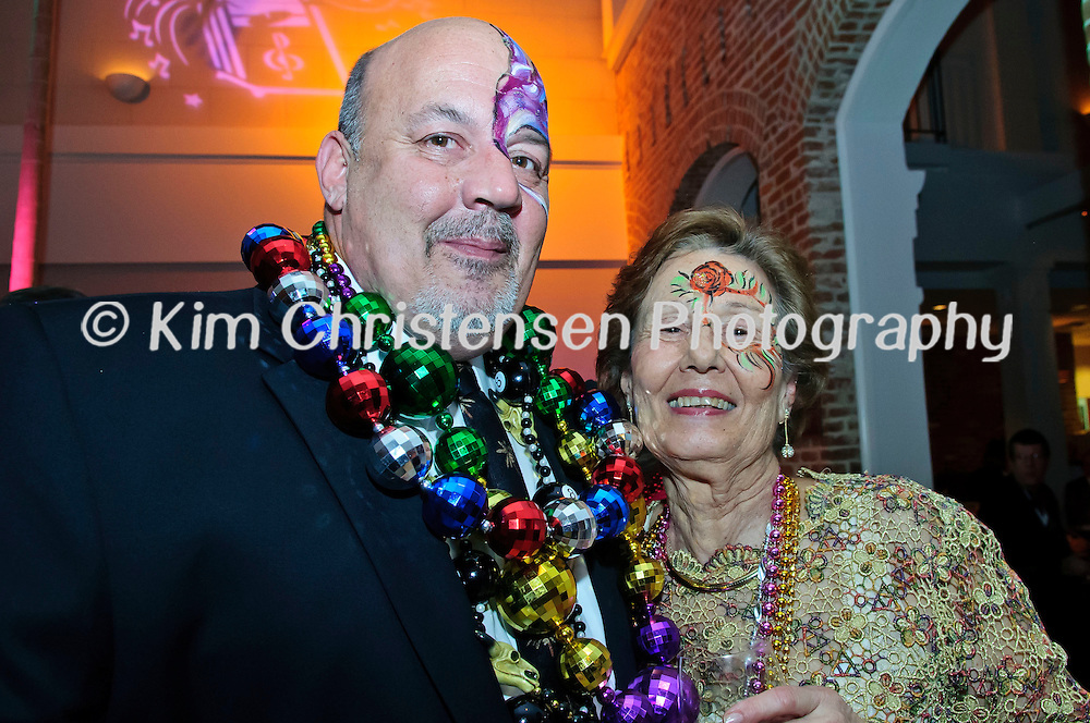 "George Pappas and Tessie Pappas enjoy The Tremont House Mardi Gras celebrate ""The Golden Era of Motown"" ball."