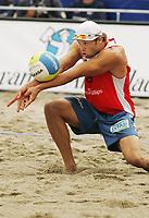 Volleyball, Sandvolleyball, World Tour Stavanger, Grand Slam, 02/07-05,<br />Iver Horrem,<br />Foto: Sigbjørn Andreas Hofsmo, Digitalsport