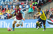 Jack Grealish of Aston Villa on the ball during the The FA Cup match between Arsenal and Aston Villa at Wembley Stadium, London, England on 30 May 2015. Photo by Phil Duncan.