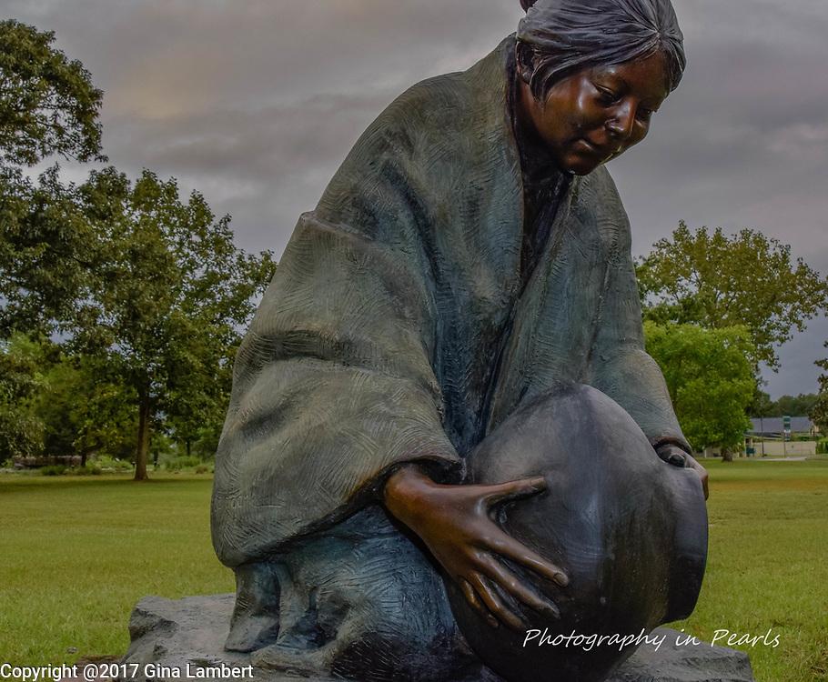 Native American Woman Bearing Water