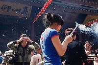 Chine, Shanghai, le Temple du Bouddha de Jade. // China, Shanghai, Jade Bouddha temple.