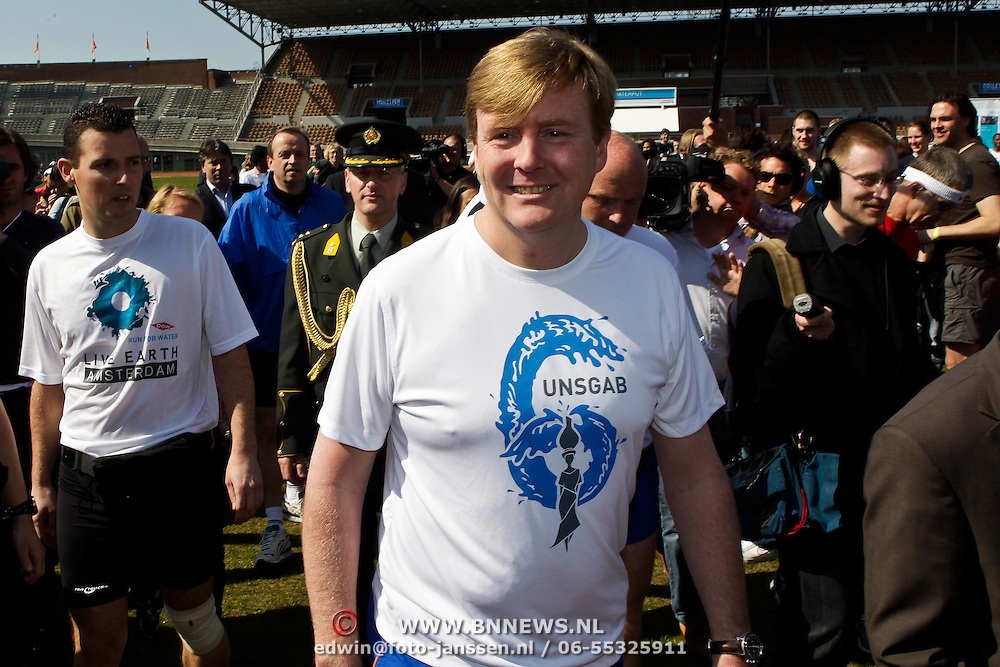 NLD/Amsterdam/20100418 - Run For Water: Live Earth 2010, prins Willem - Alexander