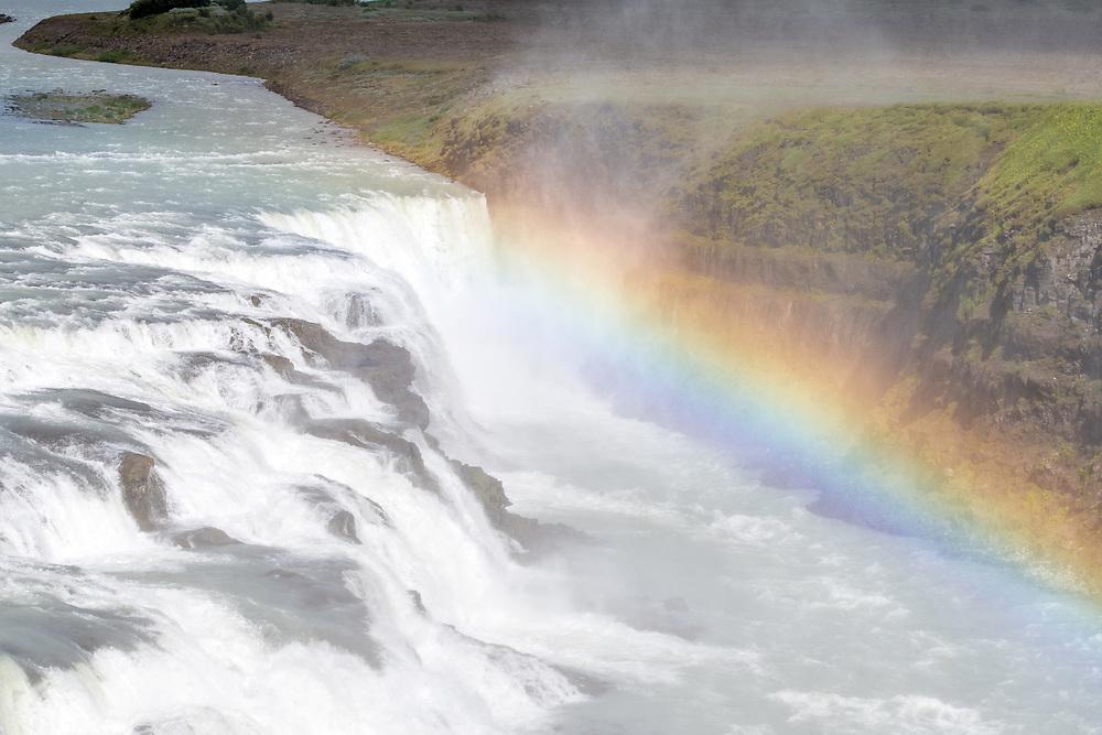 Iceland - Gullfoss waterfall on the  Hvítá river in southwest Iceland