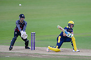 Will Smith of Hampshire batting Ryan Davies of Somerset during the Royal London One Day Cup match between Hampshire County Cricket Club and Somerset County Cricket Club at the Ageas Bowl, Southampton, United Kingdom on 2 August 2016. Photo by David Vokes.