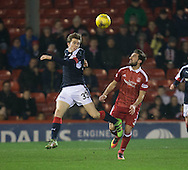 Dundee&rsquo;s Craig Wighton and Aberdeen&rsquo;s Graeme&nbsp;Shinnie - Aberdeen v Dundee in the Ladbrokes Scottish Premiership at Pittodrie, Aberdeen - Photo: David Young, <br /> <br />  - &copy; David Young - www.davidyoungphoto.co.uk - email: davidyoungphoto@gmail.com